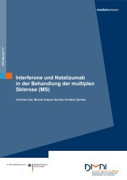 Interferone und Natalizumab in der Behandlung der multiplen - Dimdi