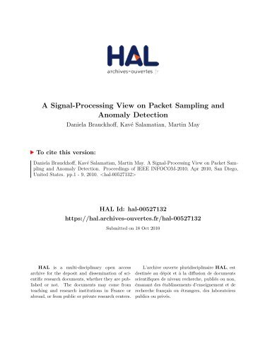 A Signal-Processing View on Packet Sampling and Anomaly Detection