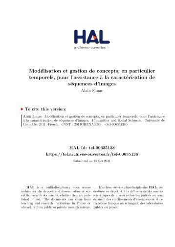 Modélisation et gestion de concepts, en particulier temporels, pour l ...