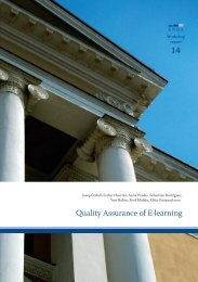 Quality Assurance of E-learning - ENQA