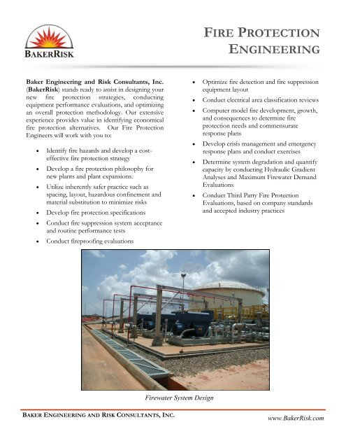 Fire Protection Engineering (pdf) - BakerRisk
