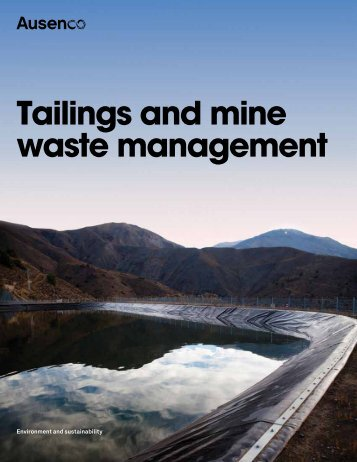 Tailings and mine waste management - Ausenco