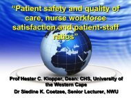 Hester Klopper - Patient safety and quality care - PSI Congress