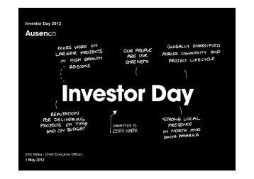 Investor Day 2012 - Ausenco