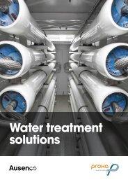 water treatment solutions brochure - Ausenco