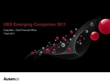 UBS Australian Small Caps Conference 2011 Presentation - Ausenco