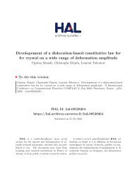 Developement of a dislocation-based constitutive law for fcc crystal ...