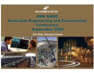 ABN AMRO Morgans Aust Eng Construction Conference - Ausenco