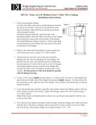 Linkage Installation Instructions - Dodge Engineering & Controls, Inc.