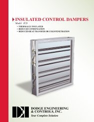 Insulated Control Dampers - Dodge Engineering & Controls, Inc.