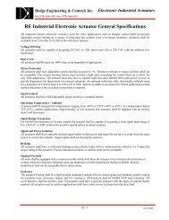 DEI Dodge Engineering & Controls Inc. - Online Catalog - Actuators