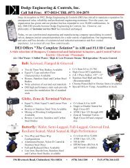 Product Line Card - Dodge Engineering & Controls, Inc.