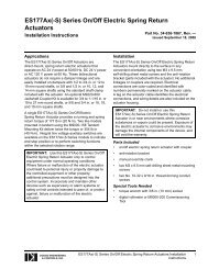 Type B - ES177A Installation Instructions - Dodge Engineering ...