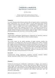 Cambiamento e comunicazioni dopo Internet ei social network - Aiems