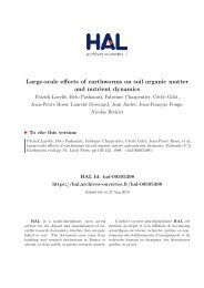 Large-scale effects of earthworms on soil organic matter and nutrient ...