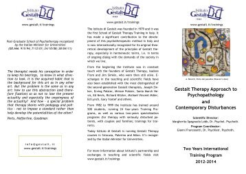 Relational approaches in gestalt therapy gestalt international gestalt therapy approach to psychopathology and contemporary fandeluxe Images