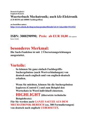 Schnaeppchen englische sprache lernen woerterbuch for Englisch deutsch ubersetzung