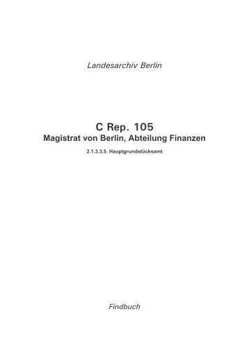 C Rep. 105 - Hauptgrundstücksamt ü - Landesarchiv Berlin