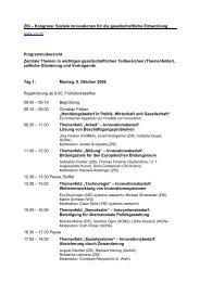 ZSI-Kongress, Programm 9.-10. Oktober 2006 -