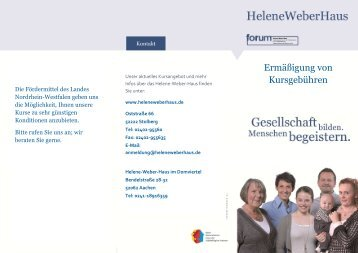 Informationen - Helene Weber Haus