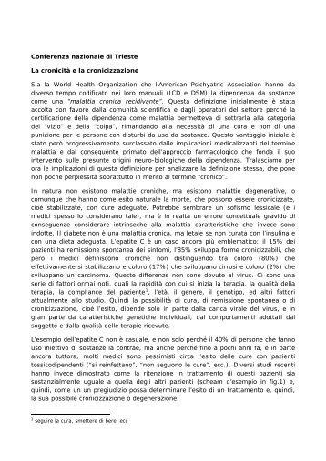 Achille Saletti - 5a Conferenza nazionale sulle droghe