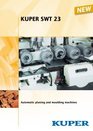Automatic planing and moulding machines - Kuper