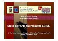 Stato dell'Arte sul Progetto SIRSS - Ce.Do.S.T.Ar.