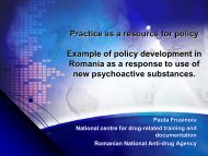 Practice as a resource for policy Example of policy ... - Cedostar