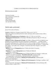 Informazioni personali - ASP CZ