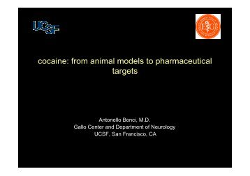 Addictive behaviors depend on changes in electrical - Cocaina