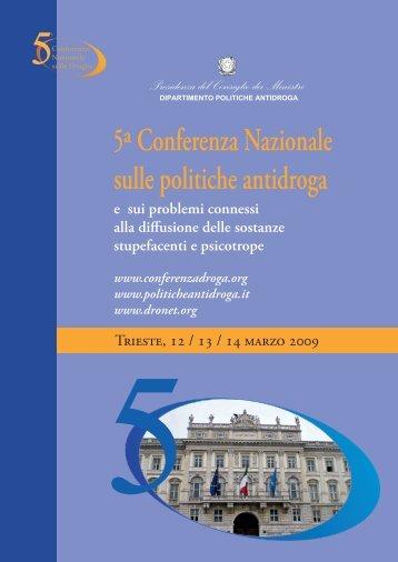 Brochure - 5a Conferenza nazionale sulle droghe