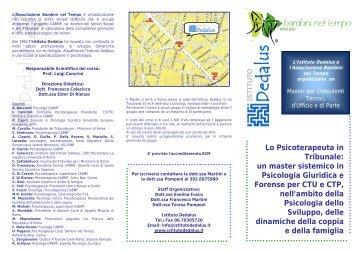 BROCHURE Master per Consulenti Tecnici d'Ufficio e di ... - CNSP