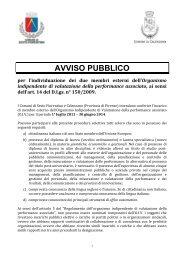 Avviso pubblico - Comune di Calenzano