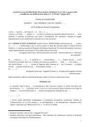 Schema di convenzione per la realizzazione di opere di ...