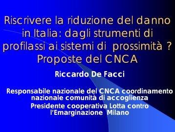 Riccardo De Facci - CNCA - 5a Conferenza nazionale sulle droghe