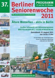 PROGRAMM - 38. Berliner Seniorenwoche 2012 - Arbeitskreis ...