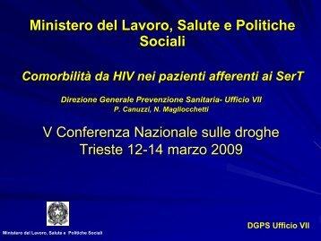 Pietro Canuzzi - 5a Conferenza nazionale sulle droghe