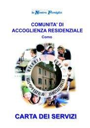 Carta dei servizi del Centro di Accoglienza residenziale/Casa Famiglia