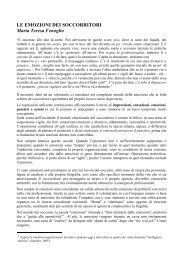 LE EMOZIONI DEI SOCCORRITORI Maria Teresa Fenoglio