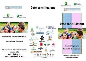 Brochure dote conciliazione - Servizi Sociali in Rete