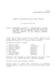 Delibera Giunta Comunale n° 236 del 17.12.2007 - Comune di ...