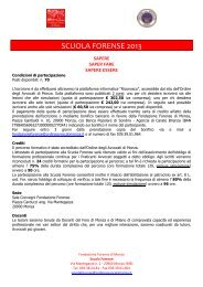 Calendario Scuola Forense 2013