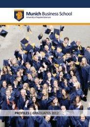 Graduate Profiles 2012 - Munich Business School
