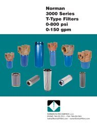 3000 series Catalog - Norman Filter Company