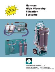 Norman High Viscosity Filtration Systems - Norman Filters