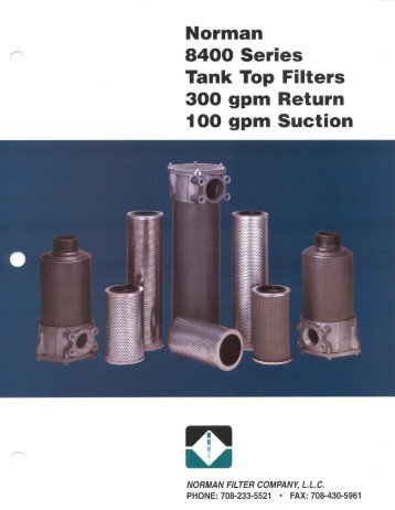 8400 series Catalog - Norman Filter Company
