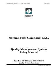 Quality Manual REV 11.pdf - Norman Filter Company
