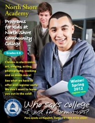 Programs - Community Education - North Shore Community College