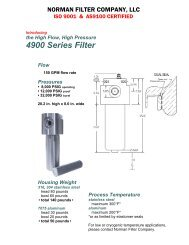 4900 Series Filter - Norman Filter Company