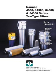 r Norman 4500, 14500, 34500 & 54500 Series Tee-Type Filters
